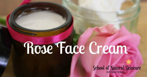 Homemade rose face cream