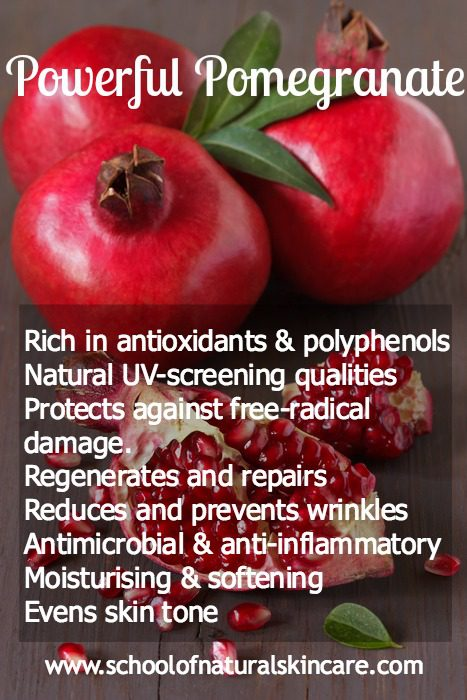 Benefits of using pomegranate oil in skincare Natural Skincare Ingredients