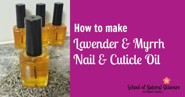 Natural Lavender and Myrrh Nail and Cuticle Treatment Oil recipe