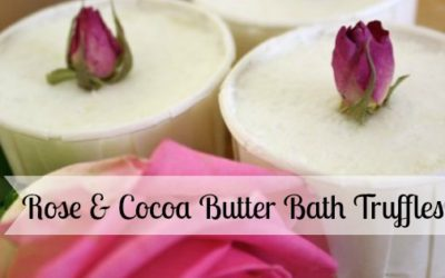 Rose and Cocoa Butter Bath Truffles