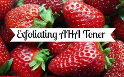 Exfoliating AHA Toner Recipe