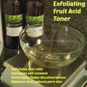 Overnight Exfoliating AHA Toner recipe Natural Facial skincare recipes