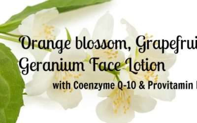 Orange blossom, Grapefruit and Geranium Face Lotion with Coenzyme Q-10 and Provitamin B5