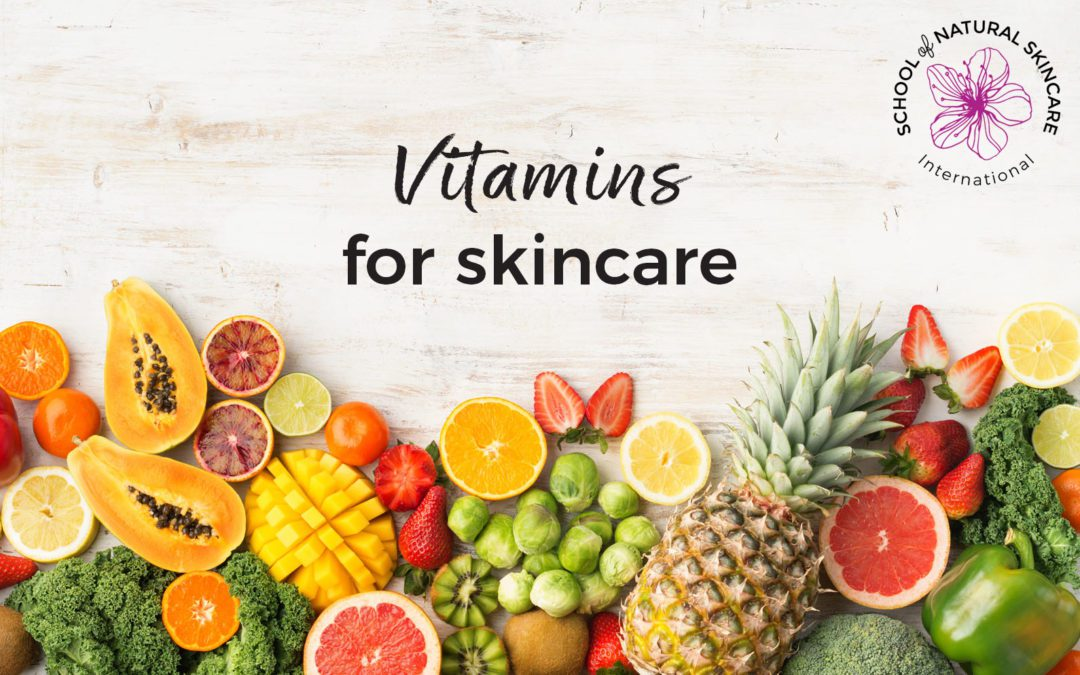 Vitamins for skincare