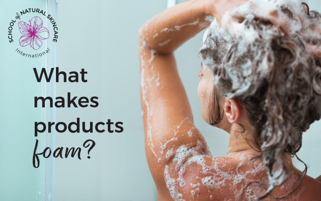 What makes products foam?