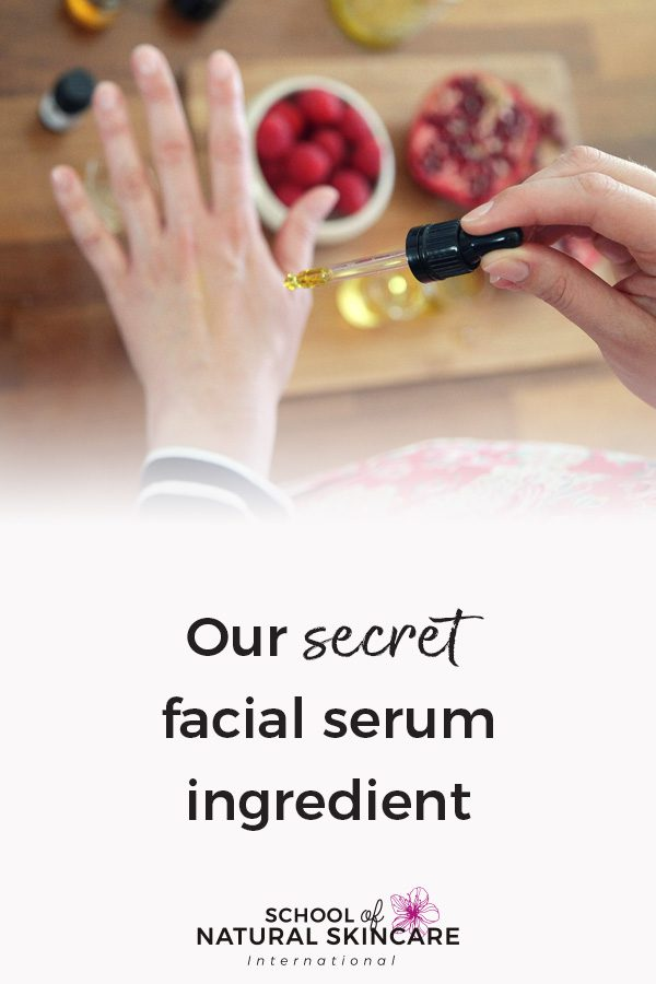 Our secret facial serum ingredient Natural Skincare Ingredients