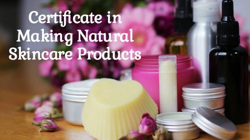 Certificate in Making Natural Skincare Products Course image with text