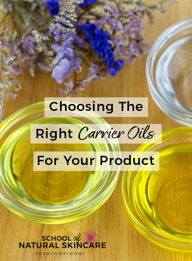 Choosing the Right Carrier Oils for your Product Natural Skincare Ingredients Skincare Formulation