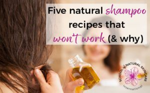There are a ton of natural, DIY shampoo recipes being shared online that simply won't work, (and may even do harm to your hair). Discover what's wrong with the most popular types of DIY shampoo recipe and what an effective recipe needs instead.