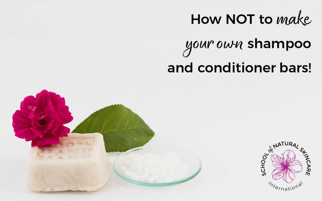How NOT to Make Your Own Shampoo and Conditioner Bars!