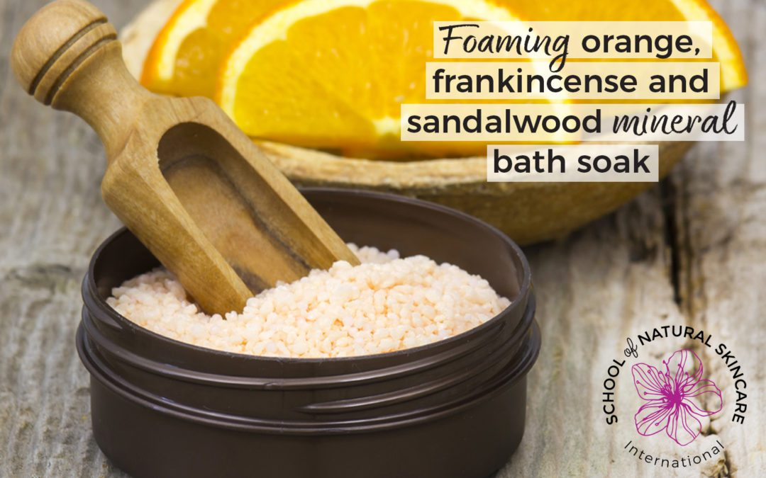 Foaming Orange, Frankincense and Sandalwood Mineral Bath Soak