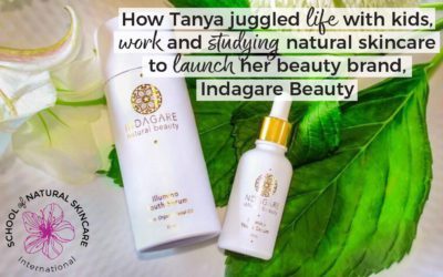 How Tanya juggled life with kids, work and studying natural skincare to launch her beauty brand, Indagare Beauty