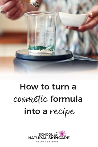 How to turn a cosmetic formula into a recipe Skincare Formulation