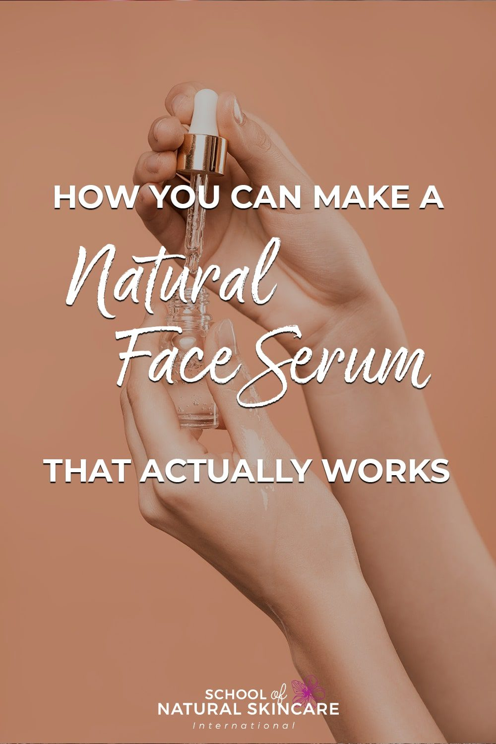 How you can make a natural face serum...that actually works! Skincare Formulation
