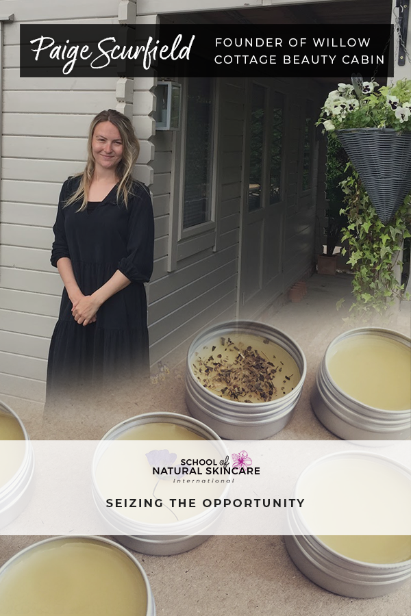 Paige Scurfield: Beauty therapist seizes the opportunity to create a green and eco-friendly salon with natural, non-toxic and cruelty-free skincare products Student success stories
