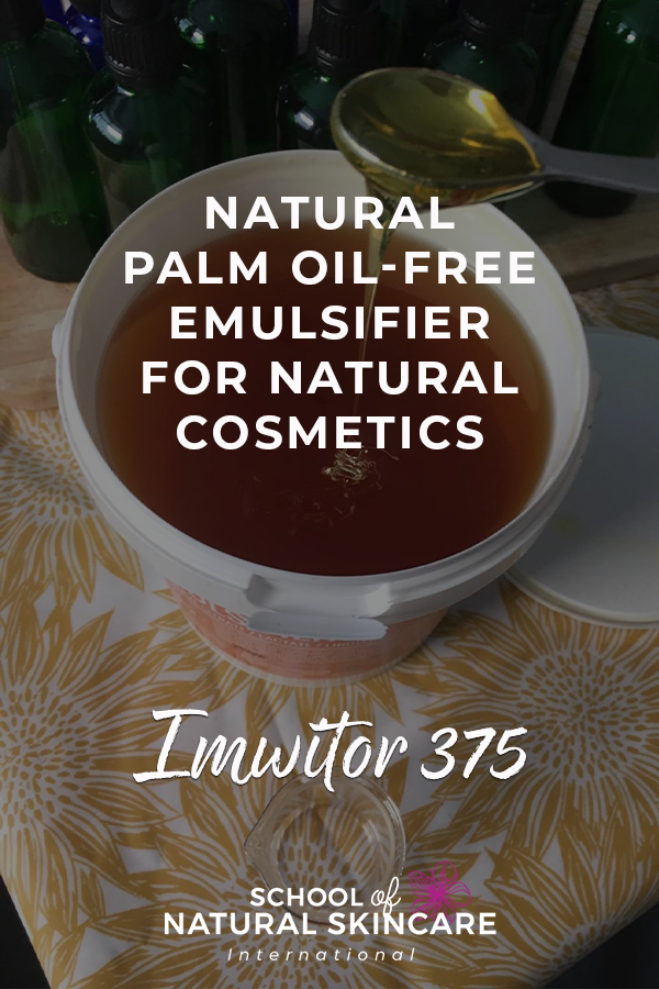 Natural Palm Oil-free Emulsifier for Natural Cosmetics: Imwitor 375 Natural Skincare Ingredients