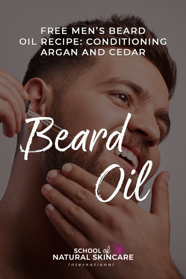 Free Men's Beard Oil Recipe: Conditioning Argan and Cedar Beard Oil Natural Facial skincare recipes